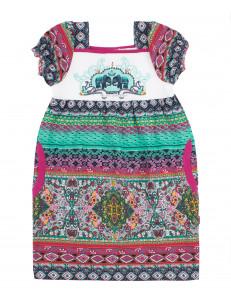 Платье для девочек орнамент бирюза