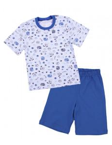 Пижама летняя для мальчиков с домиками