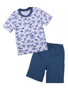 Пижама летняя для мальчиков с самолетами